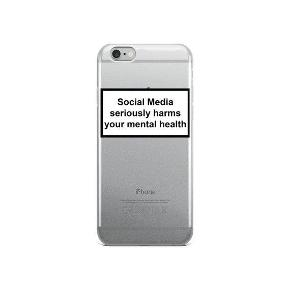 "IPhone 6/6s cover Aldrig brugt  ""Social Media Seriously Harms Your Mental Health"" Silicone cover"