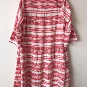 💟 VermundaCR Dress 🎨 Hvid og rød  💟 100% Bomuld