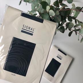 """Signal """"Milly Tights"""" 100% polyester tights i sort str. M/L (bemærk: der er ikke fødder på, de stopper ved anklen) 🐜  Byd gerne kan både afhentes i Århus C og sendes på købers regning 📮✉️"""