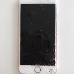 IPhone 6S med smadret skærm. Virker som den skal udover at skærmen er smadret..