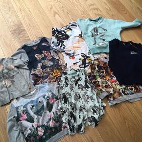 Sælges samlet 1 cardigan, 2 kjoler, 1 skjorte og 4 bluser