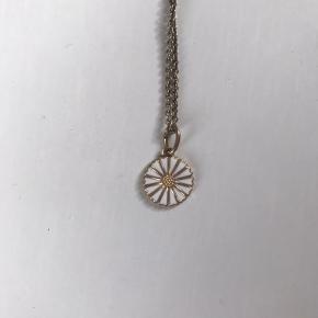 Super fin margurit halskæde, det er en gave, så jeg ved ikke hvor den er fra, men kano se den er forgyldt. Kæden er 42cm :-) Den er stort set ikke brugt, og har ligget nogle år. Derfor trænger den til at blive pudset.