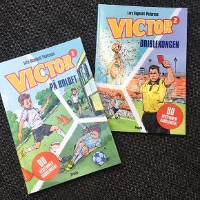To nye bøger hvor du selv bestemmer handlingen. Du er Victor, der netop er startet på en ny skole og har store fodbolddrømme. I hvert kapitel har dine valg betydning for handlingen.  100 kr pr bog, begge for 150