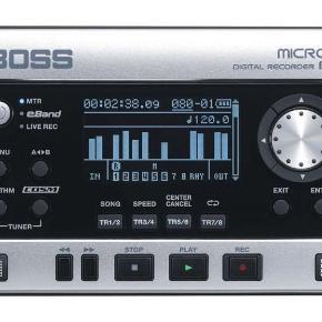 Boss Micro BR-80 Digital Recorder. Sæt dine instrumenter til den og indspil lyd i studie kvalitet.  Lav din egen musik og sange på ingen tid - kun fantasien sætter grænser!  Ring eller skriv.