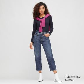WOMEN SLOUCH TAPERED ANKLE LENGTH JEANS Size 26  [69 Navy] 74% Cotton, 26% Tencel® Lyocell [01 Off White, 09 Black,67 Blue] 100% Cotton  Care Instructions: Machine wash cold, gentle cycle  Description: The perfectly loose fit feels modern and trendy. Enjoy relaxed styles with these jeans. - Made with 12 oz. Kaihara denim. - Moderately relaxed fit that does not cling to your legs.