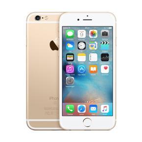 Fin iPhone 6 i guld 16gb. To små ridser i siden men kan ikke ses med cover. Sort cover medfølger.