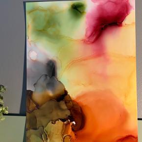 Unika maling/ forskellige medier på A3 papir. Lavet af mig selv, By Camilla West Video kan sendes så man bedre kan danne sig et indtryk af form og farver.  Tager også imod bestillinger hvis særlige farver ønskes👍🏻 Maleri plakat
