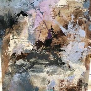 Maleri, akryl på sand og lærred, 65 cm x 90 cm. Eget design. Helt nyt.