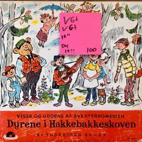 Dyrene i Hakkebakkeskoven vinyl lp plade De fede sange god stand