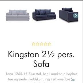 Dyb 2,5 Pers. Sofa fra Ilva. Model Kingston. Nypris 9999kr. Byd!