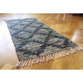 Sælger 2 styks af dette rå tæppe.  Perfekt til gangen, sommerhuset eller når de kolde vinterfødder skal ud af sengen.   Du kan få et for 30 kr og begge for 50. De måler ca. 145 • 65 cm 🌱