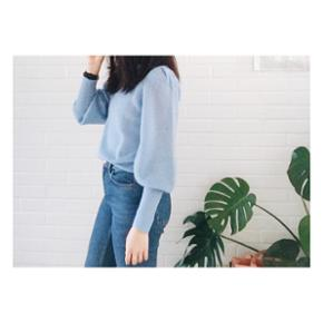 Cute HM light blue knit. Premium quality collection. Bell sleeves. Size 34.