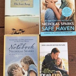 Paperback bøger på engelsk af forfatteren Nicholas Sparks  50 kr pr stk