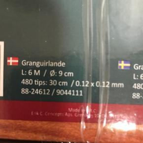 Granguirlande. Lukus fiktiv gran 2 pakker samlet 12 m, da jeg købte for meget af det sidste år.