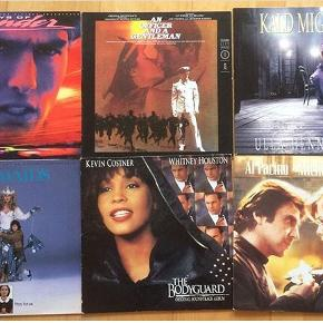 Diverse LP'er til salg: soundtracks: Days of thunder, officer and a gentleman, Mermaids/skønne sild, kald mig Liva, Frankie og Johnny, 20kr stykket NB: The Bodyguard er solgt