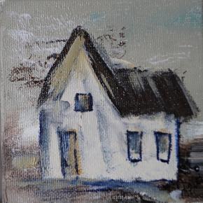 små malerier, indrammet 10x10 pr. stk. 125 kr