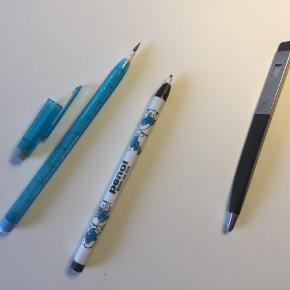 2 blyanter med små udskifteligt stifter og 1 stiftblyant til de tykke stifter
