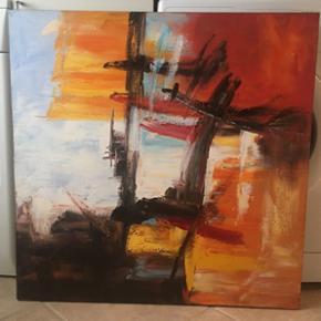 Maleri sælges.  Ukendt kunstner  Mål: 80 x 80 cm