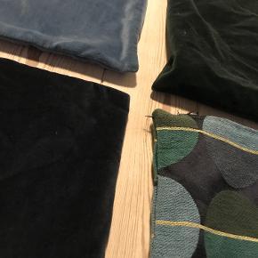 - Velour: Lyseblå, mørkeblå og mørkegrøn - Mønstret - 129 for dem alle