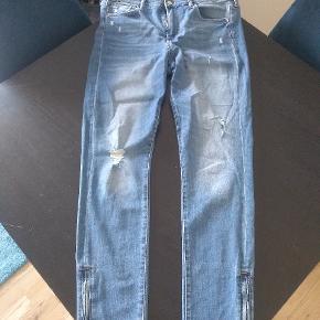 Skinny ankle jeans med regular waist