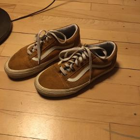 Karry gul ruskinds Old School vans.