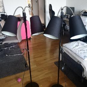 Har to gulvlamper, fejler ingen ting, de er som nye. Sælges fordi de ikke bliver brugt🌸 er åben for bud🌸 kan hentes i Ishøj 🌸