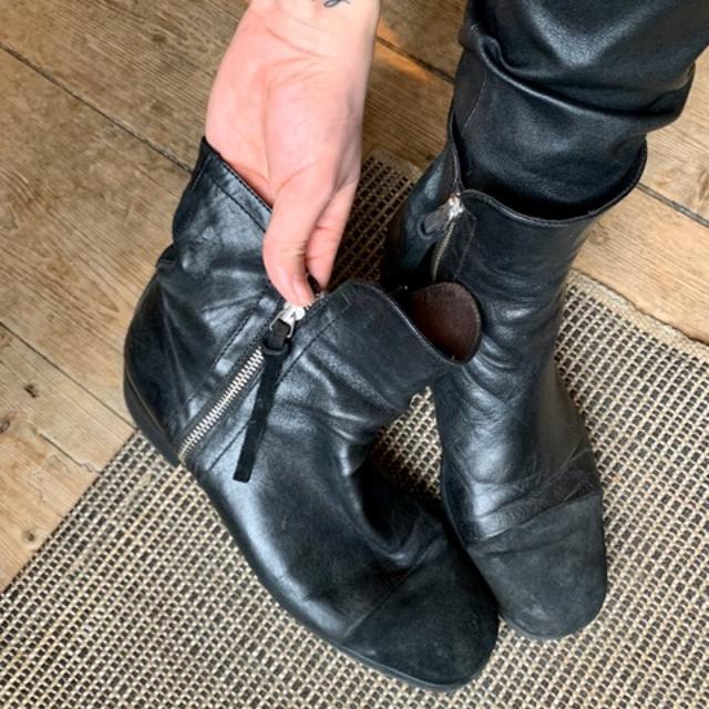 Støvler, str. 40, Sort, Skind og ruskind, God