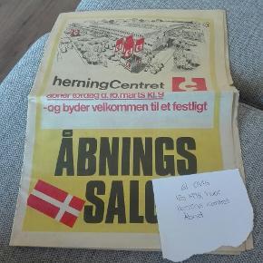 Gammel avis fra dengang Herning center åben for første gang