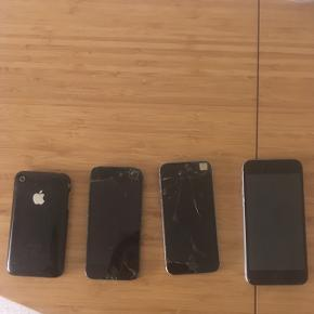 Gamle iPhonesDe virker ikke..  BYD de ligger bare og fylder..  Det er en 6, 5s, 5, og 3'er tror jeg 😅