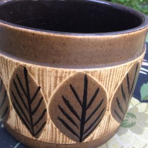 Smukkeste unika svensk retro keramik urtepotte. Skål.