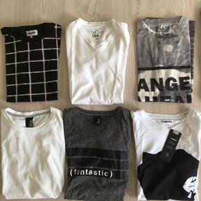Fine t-shirts str 12-14 år, den mørke længst til højre dog str 16 år. Bytter desværre ikke..