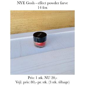 NYE Gosh - effect powder farve 14 fox  Pris: 1 stk. NU 20,- Vejl. pris: 80,- pr. stk. (3 stk. tilbage)   Se også over 200 andre nye produkter, som jeg har til salg herinde :-)
