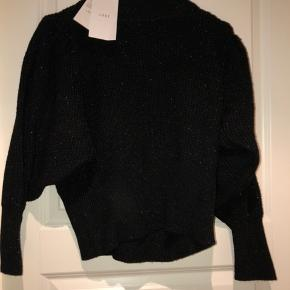Cropped sweater m. vidde i armene