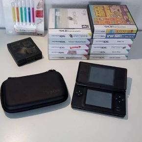 Nintendo DS med spil og tilbehør