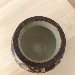 Bornholm keramik Michael Andersen Lion vase uden fejl og skår Kan hentes Esbjerg 6700