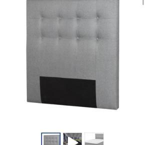 Sælger denne sengegavl fra JYSK nypris: 999kr.  Måler 120 H80  Sælges da den kun har stået til pynt, da jeg har været ude og rejse, og har derfor ikke kunne benytte mig af den  Byd
