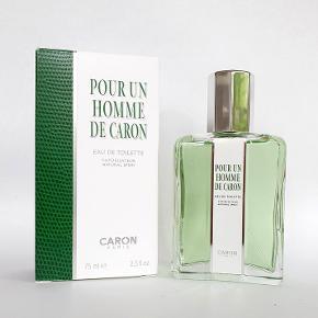 Herreparfume, Caron Pour un Homme, 75ml eau de toilette m/æske, ubrugt, køber betaler porto
