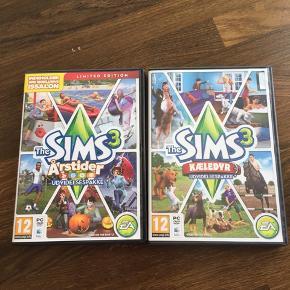 Sims 3 udvidelsespakker. Prisen er for begge to