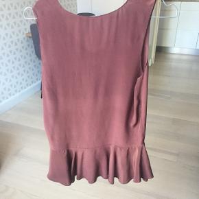 Vinrød / brun silketop