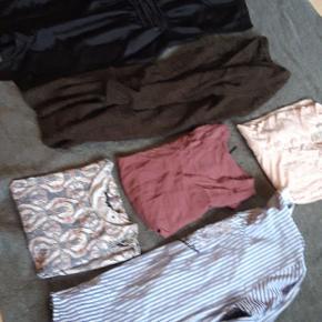 Tøjpakke sælges, 1 kjole, 1 cardigan, 2 skjorter, 2 T-shirt. Alt sammen str. 38. Sælges helst samlet.