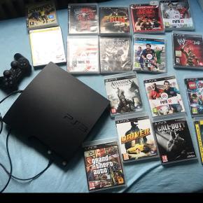 PS3 med Forskellige spil