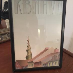 Kort med billede af Vor Frelsers kirkes tårn på Amager. Der er skrevet en lille hilsen bagpå, men det kan naturligvis ikke ses. 😊