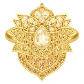 Julie Sandlau Lotus Purity Ring. Ringen er 22 karat forgyldt sølv med champagnefarvede og klare Swarovski zirkoner.  Ringen er størrelse 56, og den er desværre for stor til mig :( Nyprisen var 3.200 kr.  BYD :)