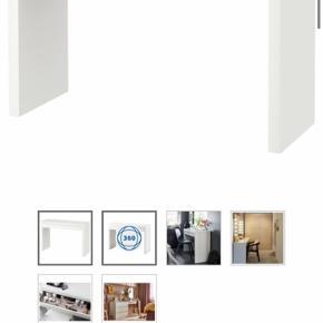 Sminkebord, spejl , lys og skammel fra Ikea .