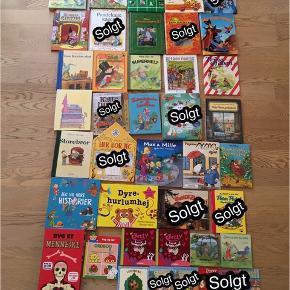 Sælger en masse børnebøger. Priser fra 3-50kr. Nogen af bøgerne er næsten som nye, mens andre er brugte men fine. Kommer fra et ikke ryger hjem. Kan afhentes i 2990 Nivå eller sendes mod betaling. Priserne kan ses på billederne