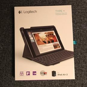 Keyboard Logitech TYPE+ til iPad Air 2  Aldrig brugt og stadig i kasse.