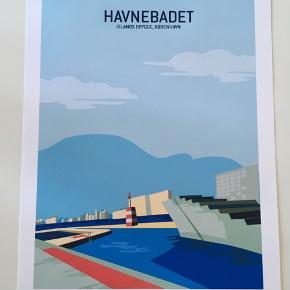 Wonderhagen plakat, Havnebadet Islands Brygge. Som nyt og hængt få uger. Der er ikke ramme med. 30x40 cm.  Sælges for 100 kr.