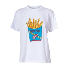 Ganni Berkeley Rocket Fries t-shirt // tee. Str. M men lille i det. Nypris 399kr., står som ny.