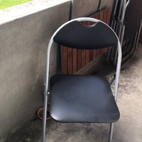 4 klapstole, sælges samlet.  BYD endelig