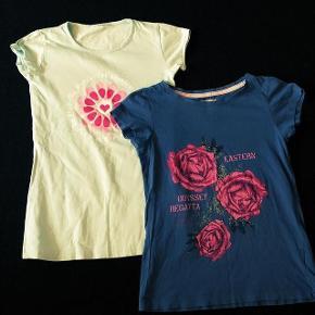 2 H&M bluser str 134-140 cm 8-10 år. Dueblå og mintgrøn. Sælges samlet
